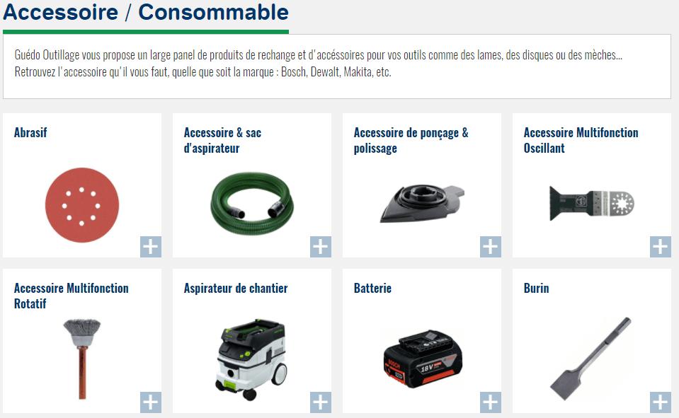 Accessoires pour aspirateurs de chantier guedo