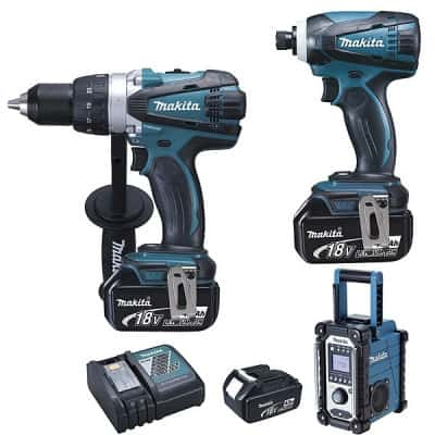 MAKITA Pack DDF458 + DTD152 + DMR107 = LOT0099 >>