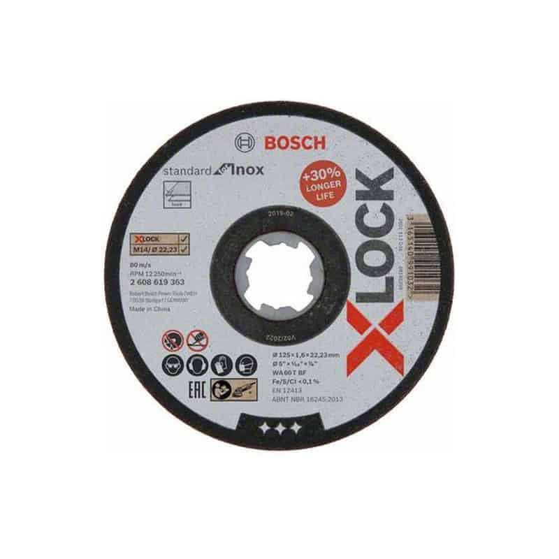 Bosch Professional 2608619262 Disque /à Tron/çonner /à Surface Plate Standard for Inox pour linox, X-LOCK, /Ø/125/mm, Al/ésage/: 22,23/mm, /Épaisseur/: 1/mm