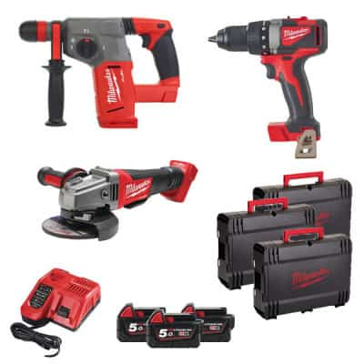 MILWAUKEE Pack 3 outils 18V 5Ah M18 FPP3J-503X - 4933472244