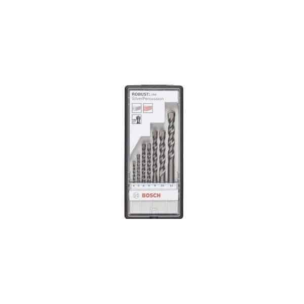 BOSCH coffret 7 forets à béton CYL Silver percussion - 2607010545