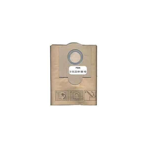 FEIN 5 sacs papier pour aspirateur  DUSTEX 40 réf. 31322810010