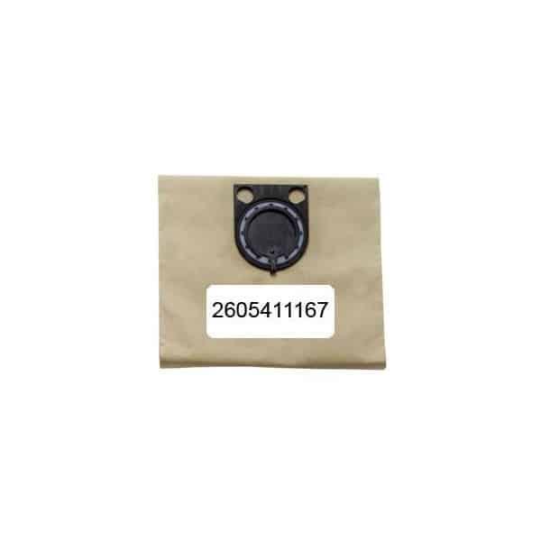 BOSCH 5 sacs papier pour aspirateur GAS25 Réf 2605411167