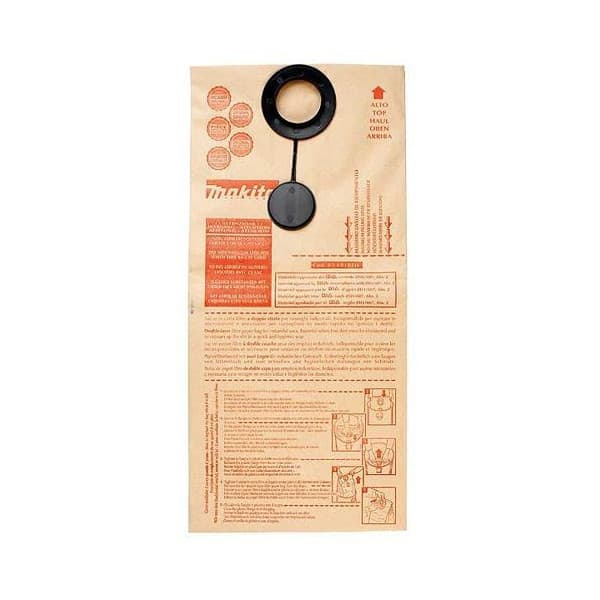 MAKITA 5 sacs papier pour aspi 445X Réf 83132BEK