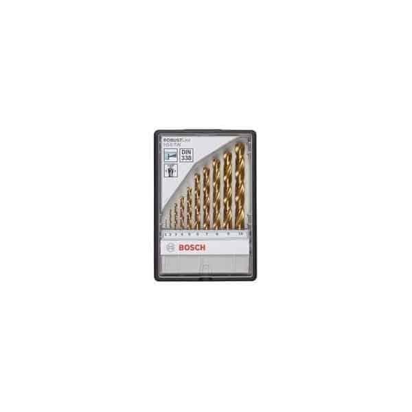 BOSCH coffret 10 forets metaux rectifiés HSS-tin - 2607010536