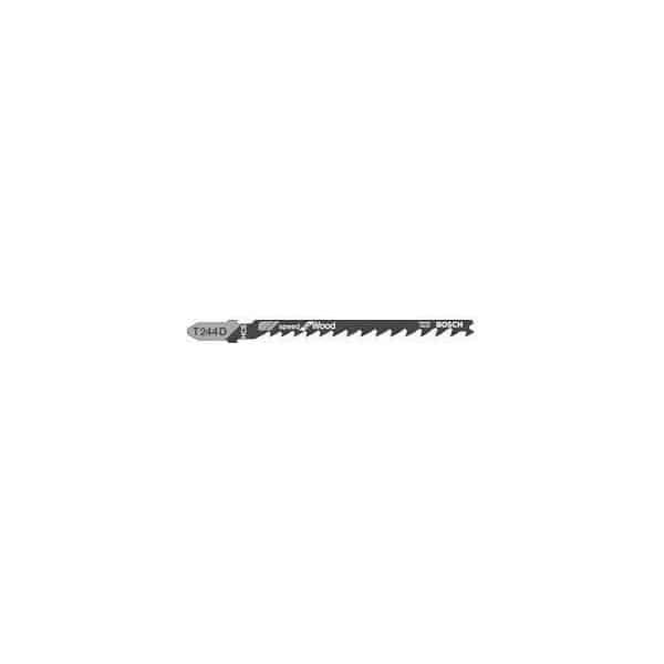 BOSCH 5 lames de scie sauteuse bois T244D - 2608630058