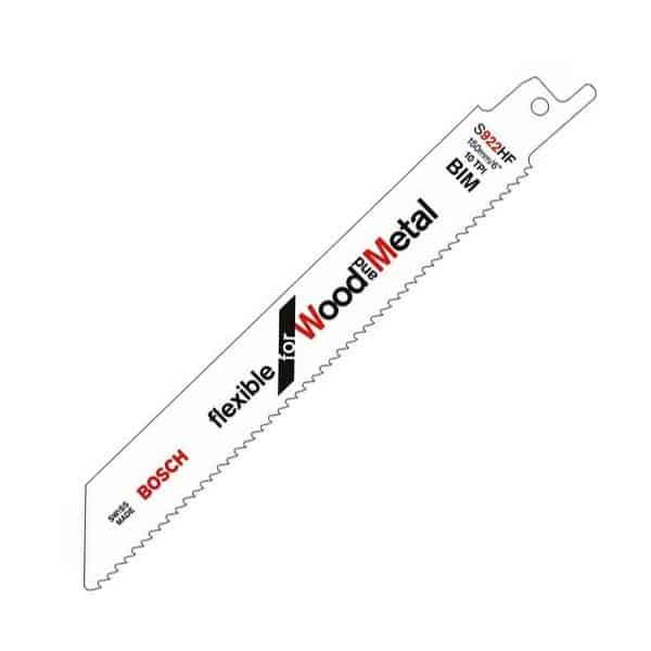 BOSCH carte de 5 lames de scie sabre Bois / Métal S922HF - 2608656016