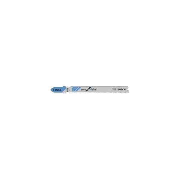 BOSCH 5 lames de scie sauteuse metal T118A - 2608631013