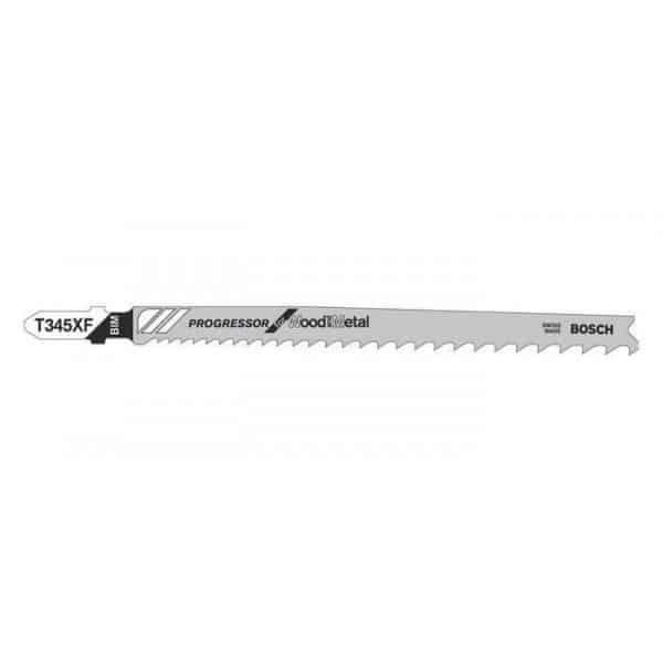BOSCH 5 lames de scie sauteuse bois/metal T345XF - 2608634994
