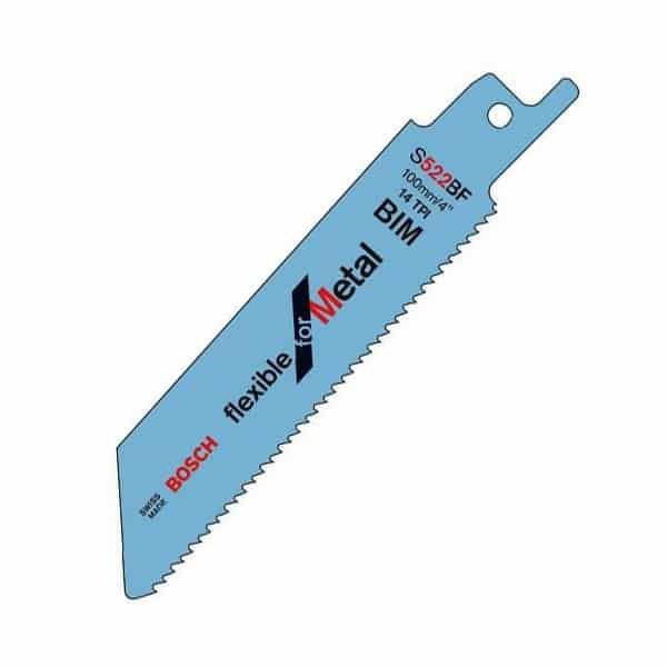 BOSCH Lame de scie sabre courte flexible pour métal S522BF