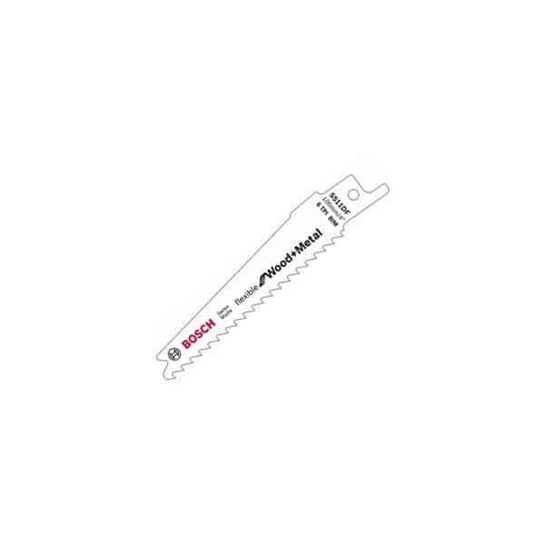 BOSCH Lame de scie sabre courte flexible pour Bois & Métal - S511DF