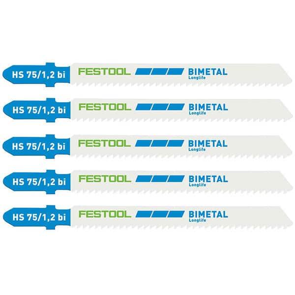 FESTOOL 5 lames scie sauteuse métal HS75/1,2 BI/5 - 204270