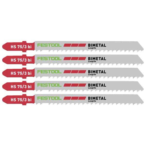 FESTOOL Lame de scie sauteuse plastique HS 75/3 BI/5 (x5) - 204336