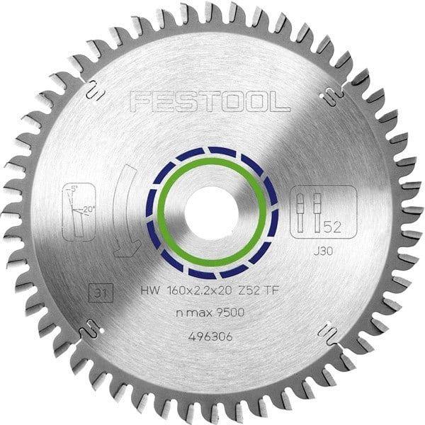FESTOOL Lame de scie circulaire Ø160mm spéciale TF52 - 496306