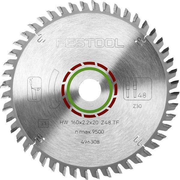 FESTOOL Lame de scie circulaire Ø 160 spéciale TF48 - 496308