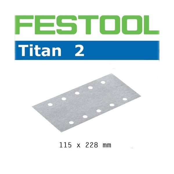 FESTOOL Abrasifs STF 115x228 P80 TI2/50 - 492738