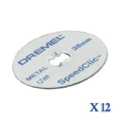 DREMEL 12 Disques EZ SPEEDCLIC Ø 38 mm - 2615S456JD