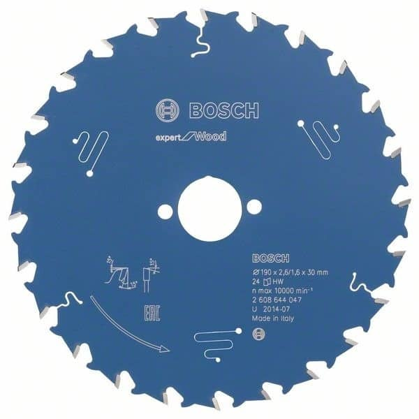 Bosch Lame Ø190mm scies circulaires portatives Expert for Wood Débit - 2608644047
