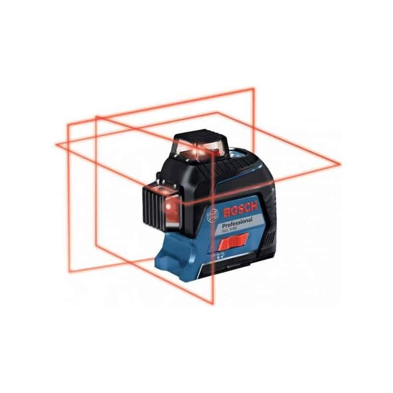 Bosch laser auto 3 plans portée 30 m gll3-80 (coffret) - 0601...