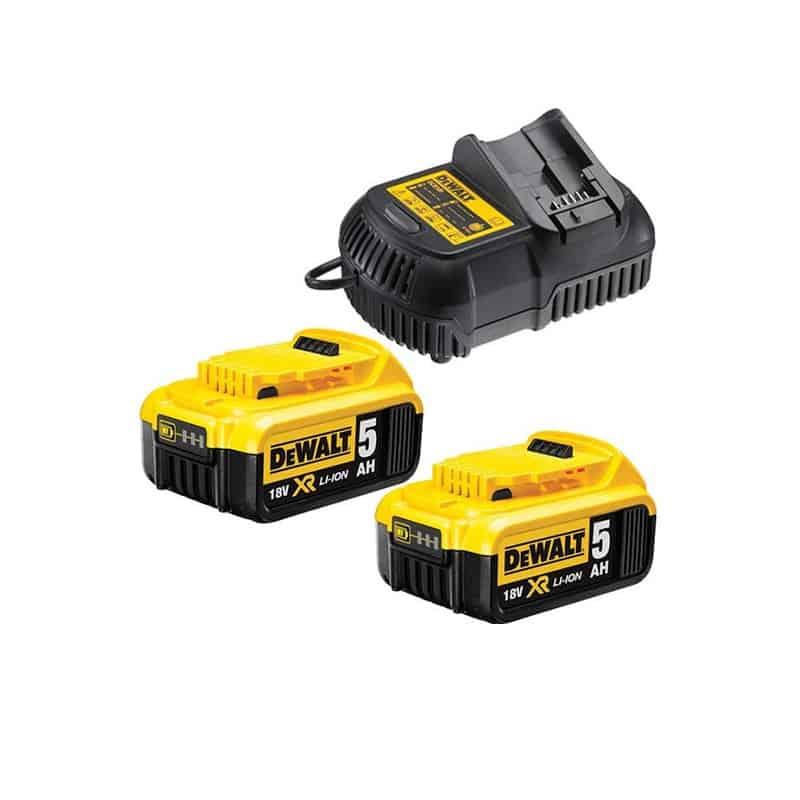 dewalt pack 2 batteries 18v 5ah chargeur dcb115p2. Black Bedroom Furniture Sets. Home Design Ideas