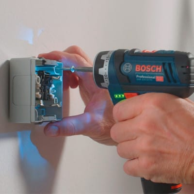 BOSCH Perceuse visseuse GSR12V-15FC set 2x2Ah - 06019F6000