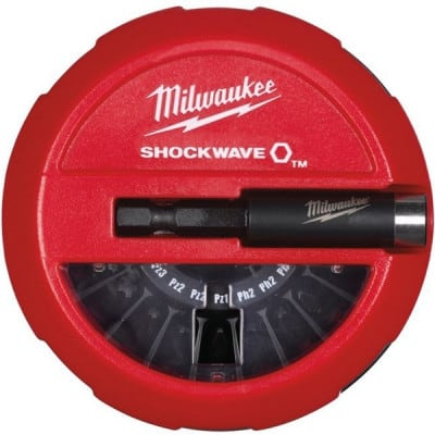MILWAUKEE Coffret 14 embouts + porte-embout Shockwave - 4932430904