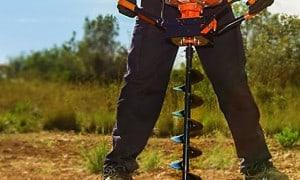 Tarière thermique - Matériel de forage pour planter clôtures et arbres