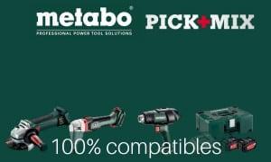 Metabo Pick Mix Outils sans-fil compatibles : batterie et chargeur 18V