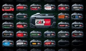 CAS : Batterie compatible avec plus 160 machines 18 V